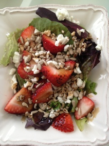 strawberry goat salad